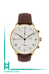 IWC Portuguese Chronograph - 40mm - Rose Gold - Brown Leather Strap - Ref. IW371480
