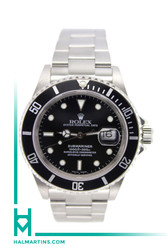 Rolex Stainless Steel Submariner - 40mm Date - Black Dial and Bezel - Ref. 16610