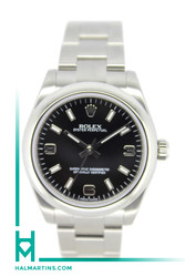 Rolex Stainless Steel Oyster Perpetual - 31mm Black Arabic and Index Dial - Ref. 177200