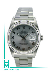 Rolex Stainless Steel Datejust - 36mm Silver Roman Dial - Ref. 16200