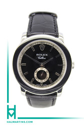 Rolex Cellini Cellinium - Platinum - 38mm - Black Leather Strap - Ref. 5241.6