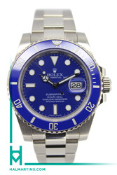 Rolex White Gold Submariner - Blue Dial and Bezel - 40mm - 116619