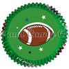 Football Baking Cups