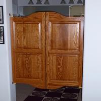 Bathroom swinging doors