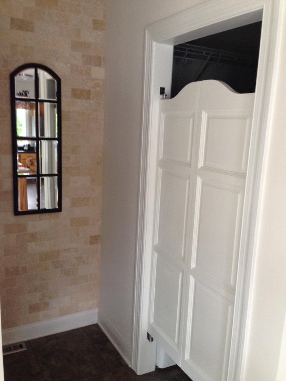 White Kitchen Saloon Doors. \