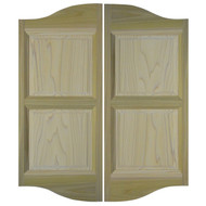 "Double Arch Poplar Saloon Doors (24""- 36"" Door Openings) Cafe Doors *Doors shown are 48"" tall"