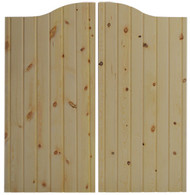 "Pine V-Groove Cafe Doors / Saloon Doors (24""-36"" Door Openings)"