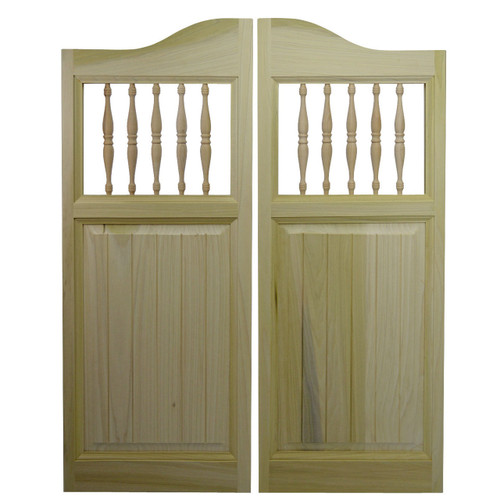 "Poplar Beadboard Cafe Door / Saloon Door (24""-36"" Door Openings)"