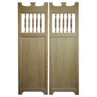 "Oak Old Western Saloon Doors (24"" - 36"" Door Openings)"