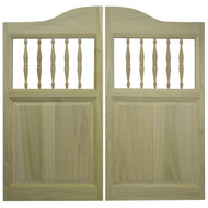 "Poplar Western Saloon Doors w/Spindles (2'6"", 2'8"", 3' Door Openings)"