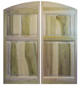 Custom Poplar Archway Cafe Doors (24\ -36\  Door ... & Archway Poplar Cafe Doors / Saloon Swinging Doors (24\