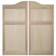 Oak Western Saloon Doors (3'-3.5' Door Openings)