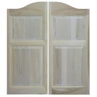 """Solid Poplar Western Saloon Doors (36""""- 42"""" Door Opening)"""