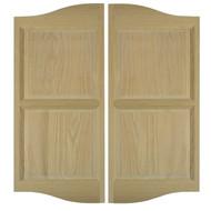 """Double Arch Oak Cafe Swinging Doors (3.5' - 4' Door Openings)  *Doors shown are 48"""" tall"""