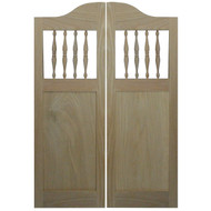 """Oak Shaker Style Cafe Doors (3' 6"""" - 4' Door Openings)"""