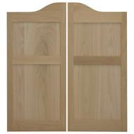 """Oak Shaker (Flat Panel) Cafe Doors (42""""- 48"""" Door Openings)"""
