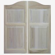 """Arched Top Poplar Western Saloon Doors (48"""" Door Opening)"""