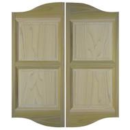 """Poplar Double Arch Cafe Doors (54""""- 60"""" Door Openings)  *Doors shown are 48"""" tall"""