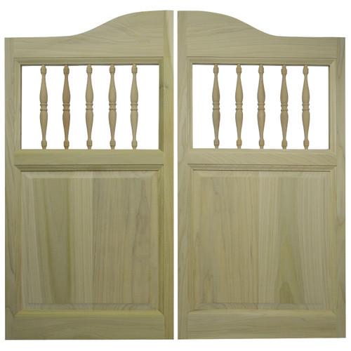 Solid Poplar Western Saloon Doors \\ Swinging Cafe Doors with Spindles for 48\ -54\  Door Openings  sc 1 st  Swinging Cafe Doors & Solid Poplar Western Saloon Doors \\ Swinging Cafe Doors with ...