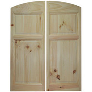 "Archway Style Pine Cafe Doors \ Saloon Swinging Doors for 36""-42"" Door Openings"