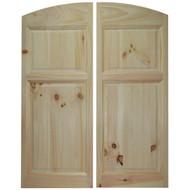 Pine Archway Saloon Doors (4' Door Opening)
