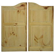 "Pine Saloon Doors Arched Top  (36""- 42"" Door Openings)"