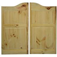 """Pine Western Saloon Doors Arched Top (42""""-48"""" Door Openings)"""