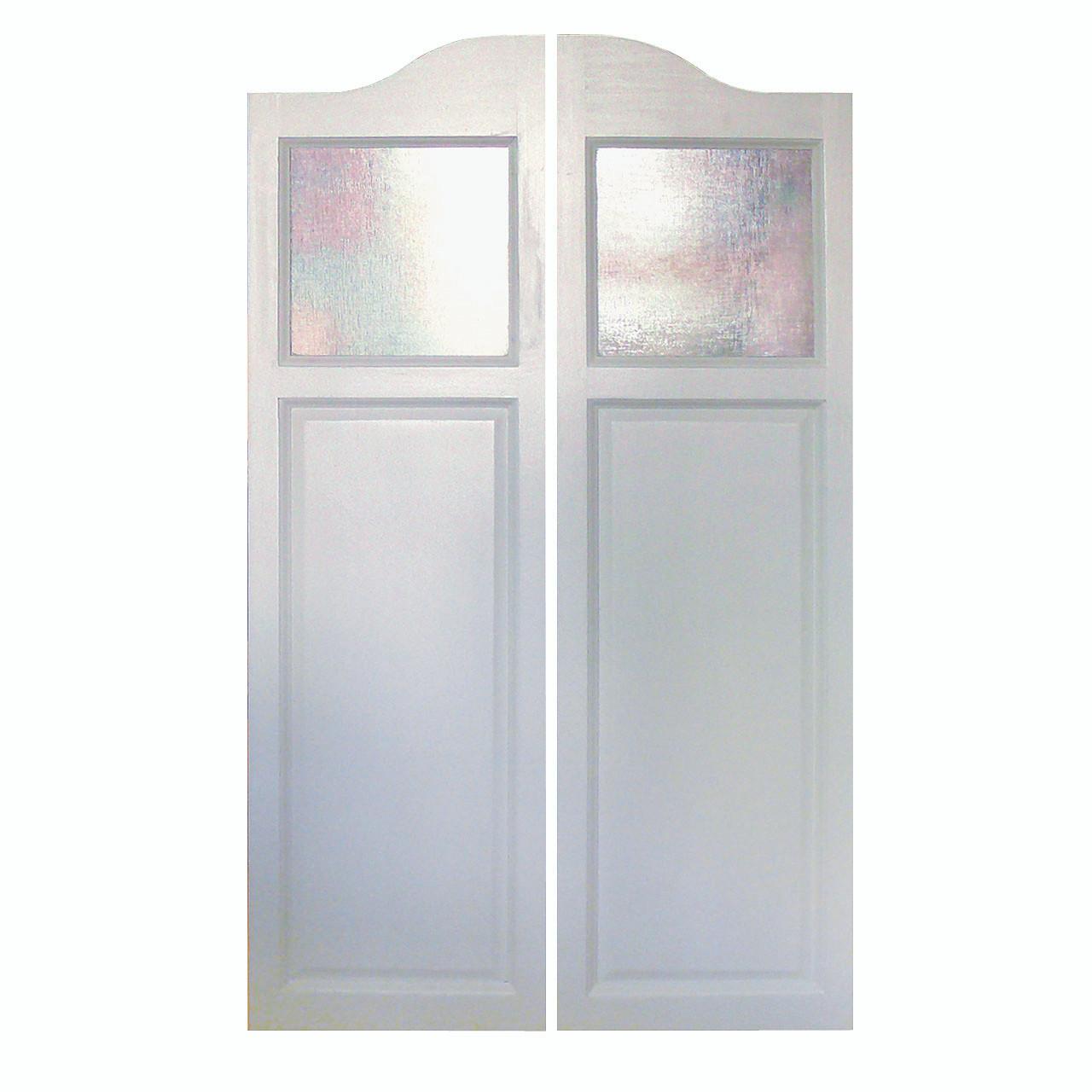 Poplar western cafe doors saloon doors arched top with glass inserts 24 36 door openings - Cafe swinging doors kitchen ...