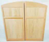 "Archway Style Oak Saloon Doors / Cafe Swinging Doors for 36""-42"" Door Openings"