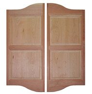 "Double Arched Cherry Saloon Doors 36""- 42"" Door Openings"