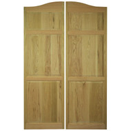 "Full Length Oak Cafe | Saloon Doors (36""- 42"" Door Openings)"