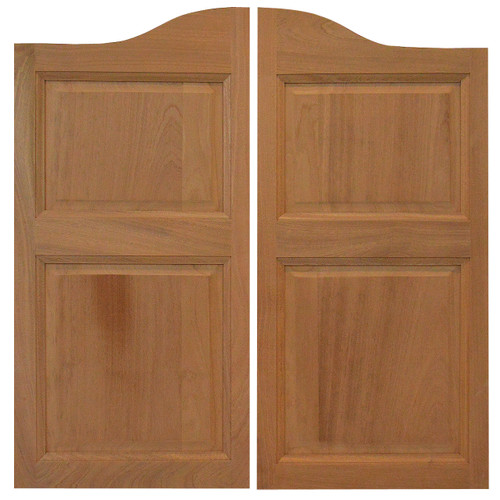 Sapele Swinging Cafe Doors (2ft- 3ft Door Openings) & Sapele (Mahogany) Cafe / Saloon Doors with Arched Top (24\