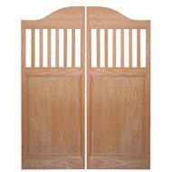 """Solid Oak Mission Style Spindles Saloon Doors 42""""- 48"""" Door Opening Size"""