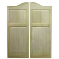 Beadboard Poplar Saloon Doors 48 in - 54 in Door Openings