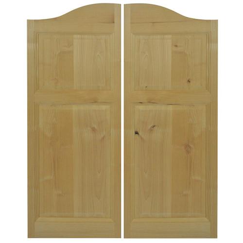 Rustic Alder Western Cafe / Saloon Door ( 24\ -36\  Door ...  sc 1 st  Swinging Cafe Doors & Rustic Alder Western Cafe / Saloon Doors with Arched Top (24\