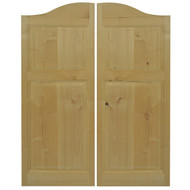 "Rustic Alder Western Cafe / Saloon Door ( 36""- 42"" Door Openings)"