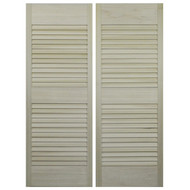 "Custom Hardwood Louvered Doors to fit your 24""-36"" door opening size"