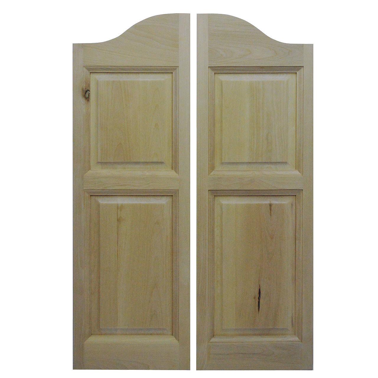 Solid White Birch Western Doors Cafe Doors Saloon