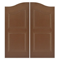 "Weather Resistance Saloon Doors | Cafe Doors (36""- 42"" Door Openings)- shown in Mocha Brown color"