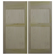 "Poplar Farmhouse Shaker Style Western Saloon Doors | Cafe Doors (36""- 42"" door openings)"