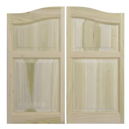 Solid Western Poplar Saloon Doors (24\ - 36\  Door Openings)- Arched  sc 1 st  Swinging Cafe Doors & Solid Poplar Western Cafe Doors / Saloon Doors Arched Top and ...
