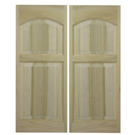 "Solid Western Poplar Saloon Doors (24""- 36"" Door Openings)- Rounded Arch"