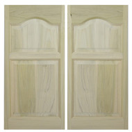 "Solid Western Poplar Saloon Doors (36""- 42"" Door Openings)- Cathedral Arch"