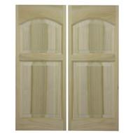 """Solid Western Poplar Saloon Doors (42""""- 48"""" Door Openings)- Rounded Arch"""