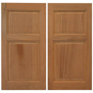 "Sapele Western Saloon Doors \ Cafe Doors (4'- 4' 6"" Door Openings)- Square Top"