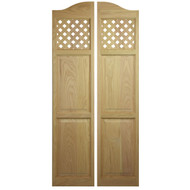 "Lattice Full Length Cafe Doors (24"" - 36"" Door Openings)"