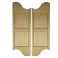 Rustic Alder Logo Cafe Doors | Saloon Western Doors