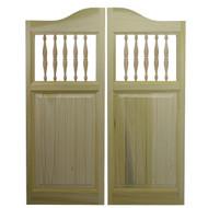"""Poplar Beadboard Cafe Door / Saloon Door (54""""-60"""" Door Openings)"""