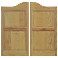 Solid Ash Saloon Door | Cafe Door with Arched Top
