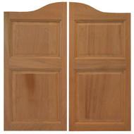 """Sapele Swinging Cafe Doors (54"""" -60"""" Door Openings)"""
